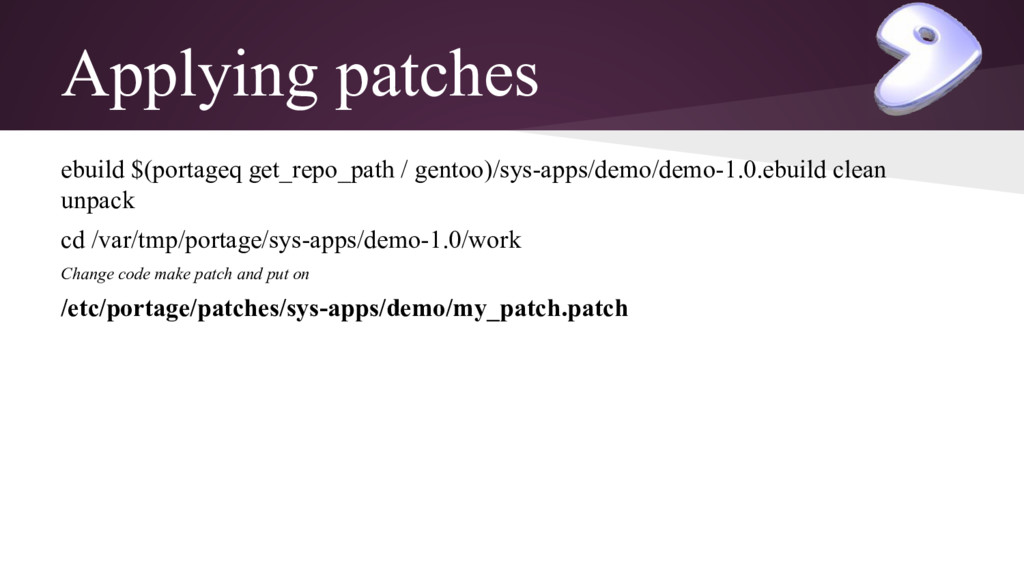 Applying patches ebuild $(portageq get_repo_pat...