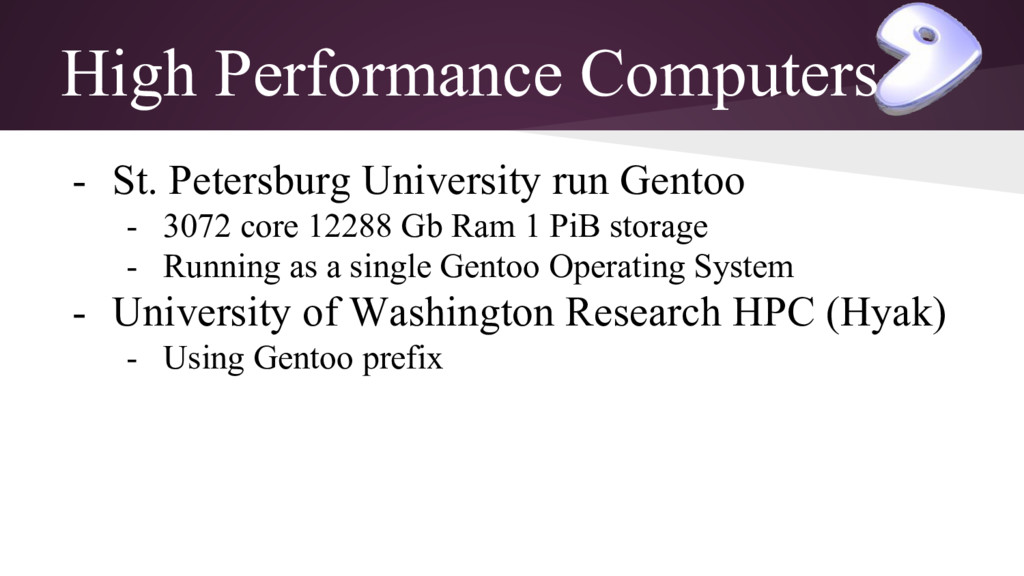 High Performance Computers - St. Petersburg Uni...