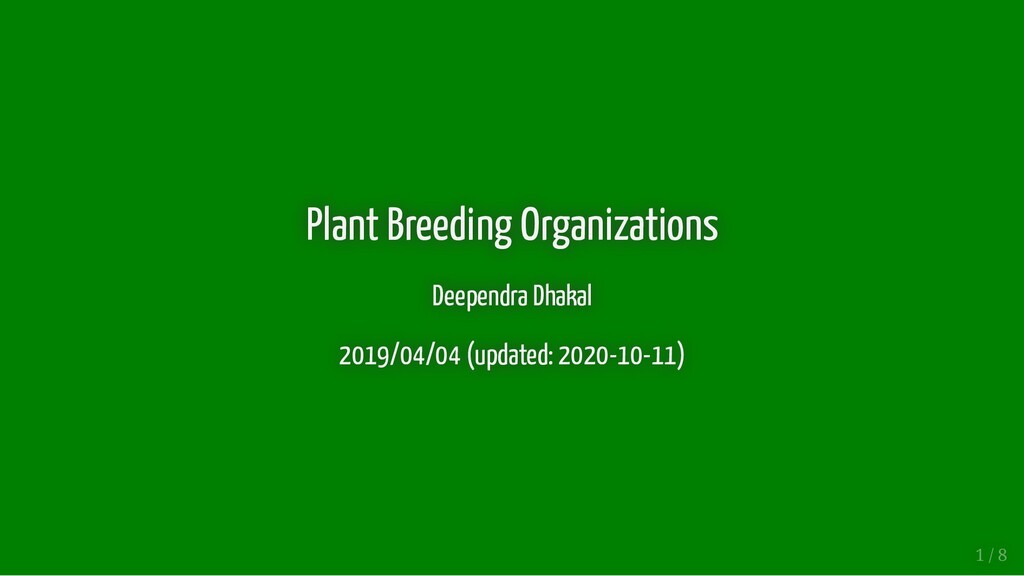 Plant Breeding Organizations Plant Breeding Org...