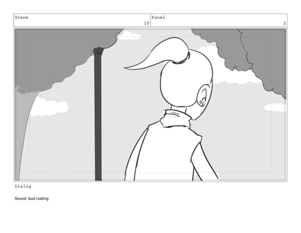 Scene 10 Panel 2 Dialog Sound: loud rustling