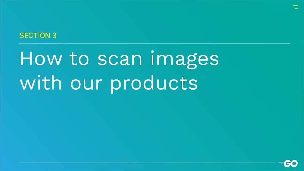 How to scan images with our products SECTION 3