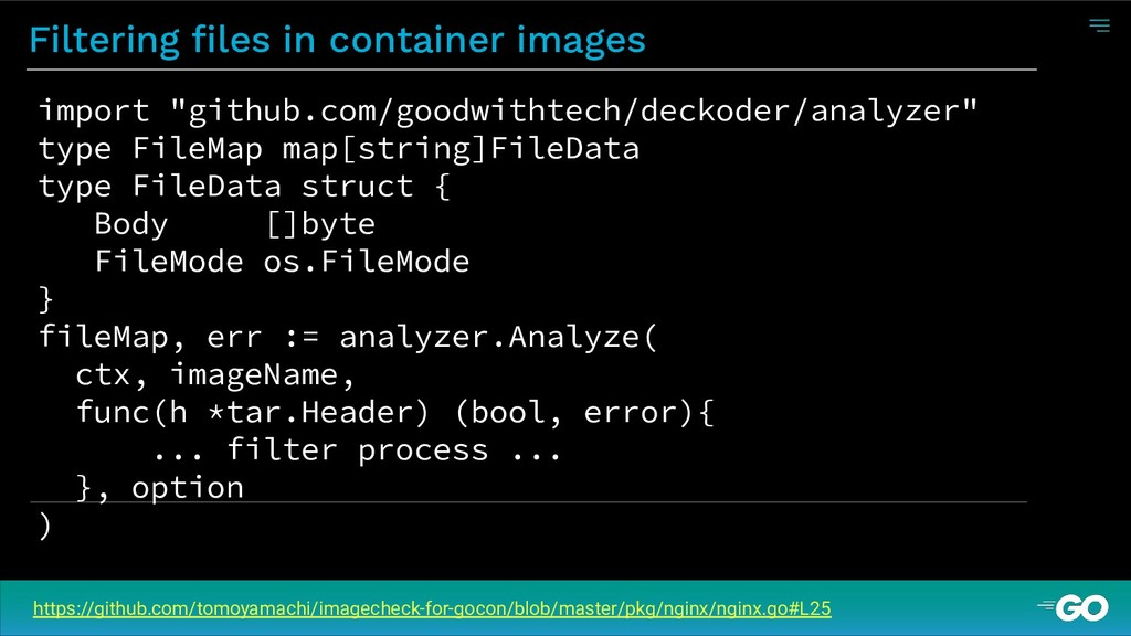 Filtering files in container images https://gith...
