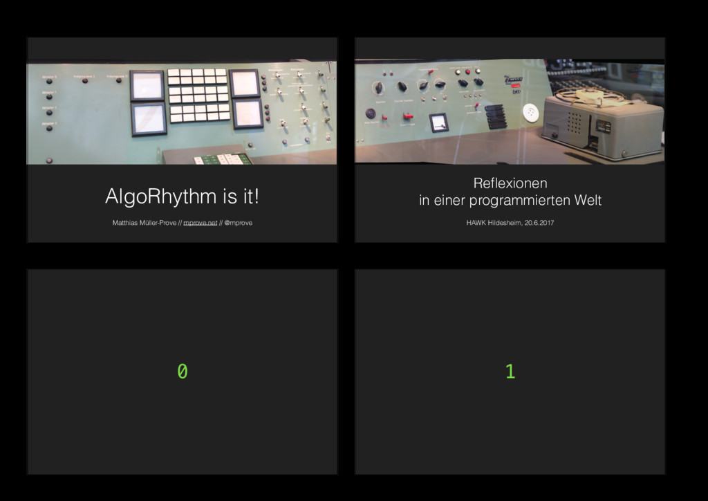 AlgoRhythm is it! Matthias Müller-Prove // mpro...