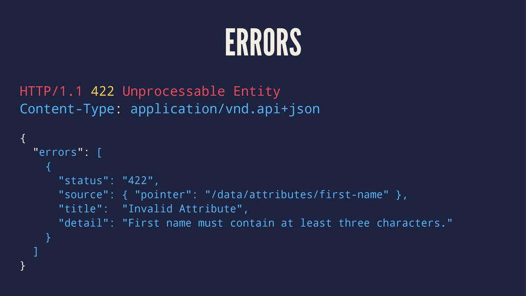 ERRORS HTTP/1.1 422 Unprocessable Entity Conten...
