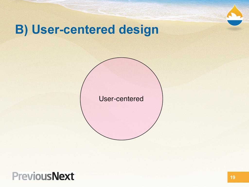 B) User-centered design 19