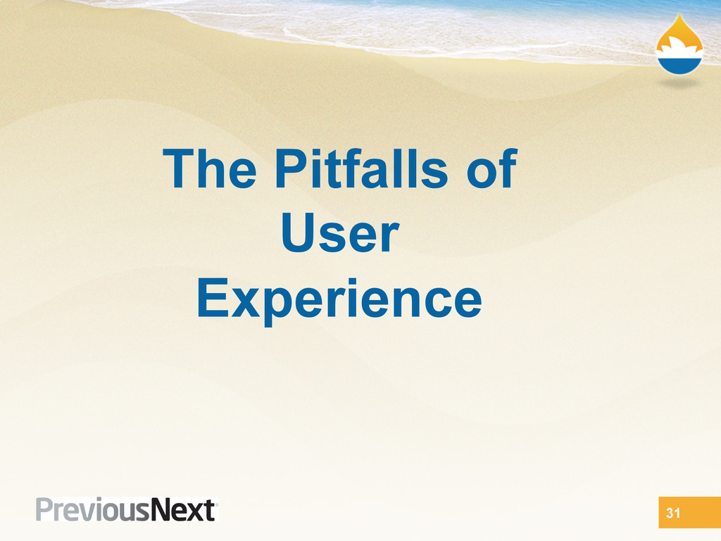 The Pitfalls of User Experience 31