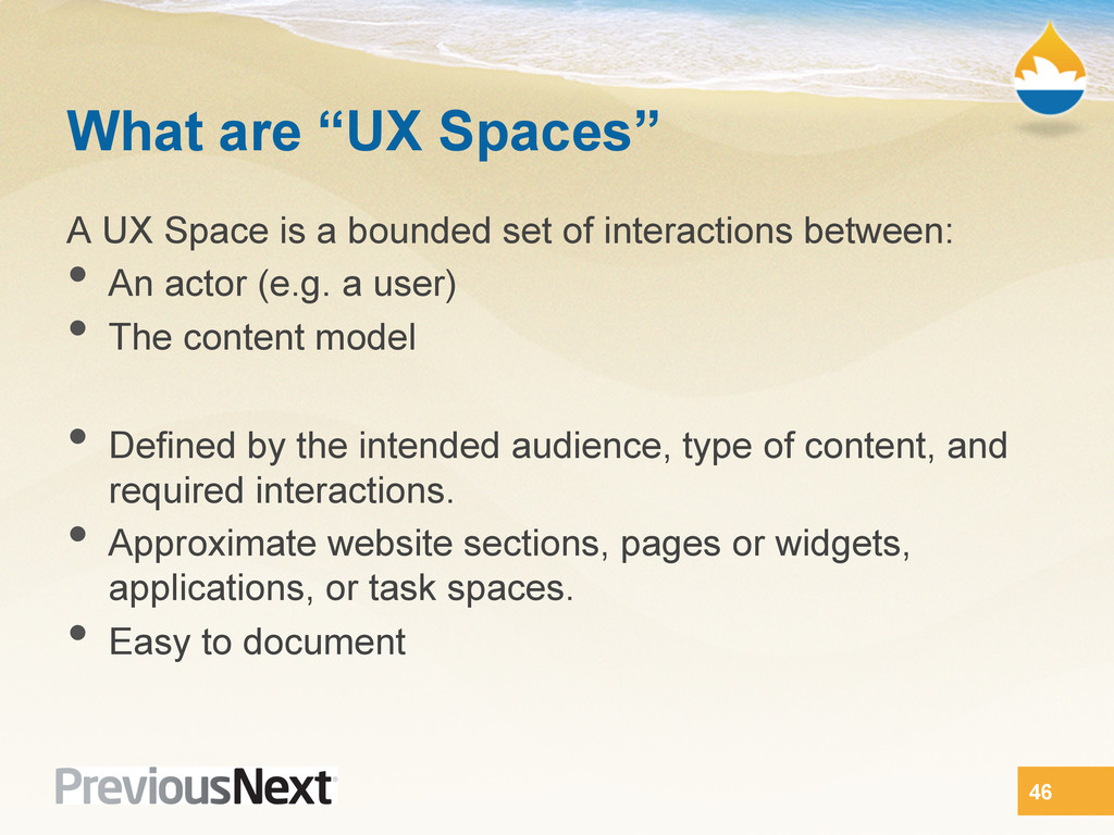 "What are ""UX Spaces"" A UX Space is a bounded se..."