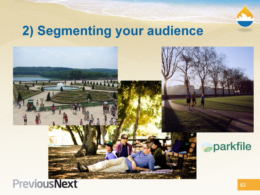 2) Segmenting your audience 63