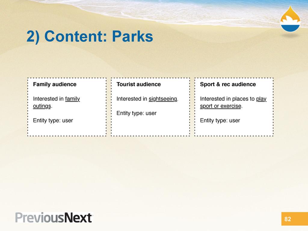 2) Content: Parks 82 Sport & rec audience Inter...