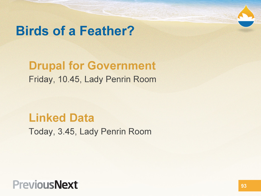Birds of a Feather? Drupal for Government Frida...
