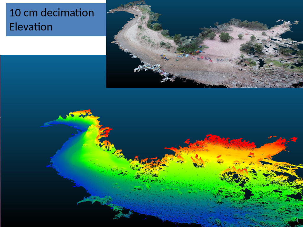 10 cm decimation Elevation