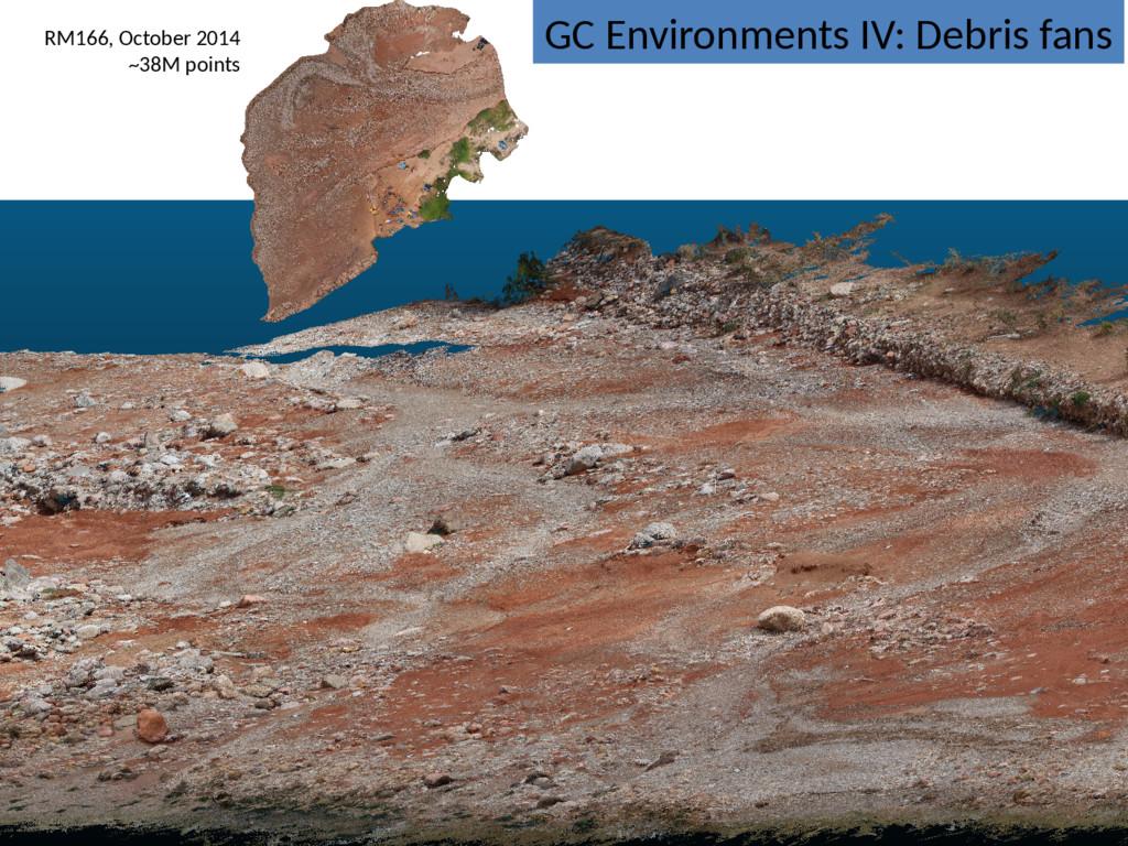 GC Environments IV: Debris fans RM166, October ...