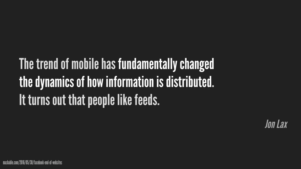 The trend of mobile has fundamentally changed t...