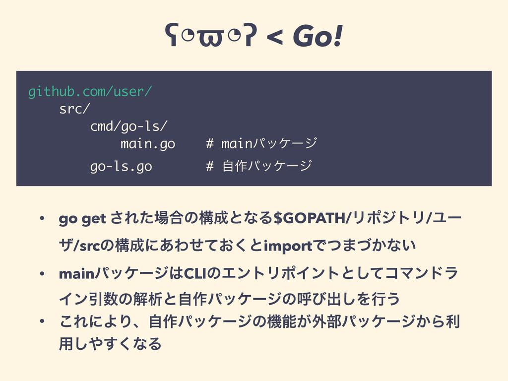 github.com/user/ src/ cmd/go-ls/ main.go # main...
