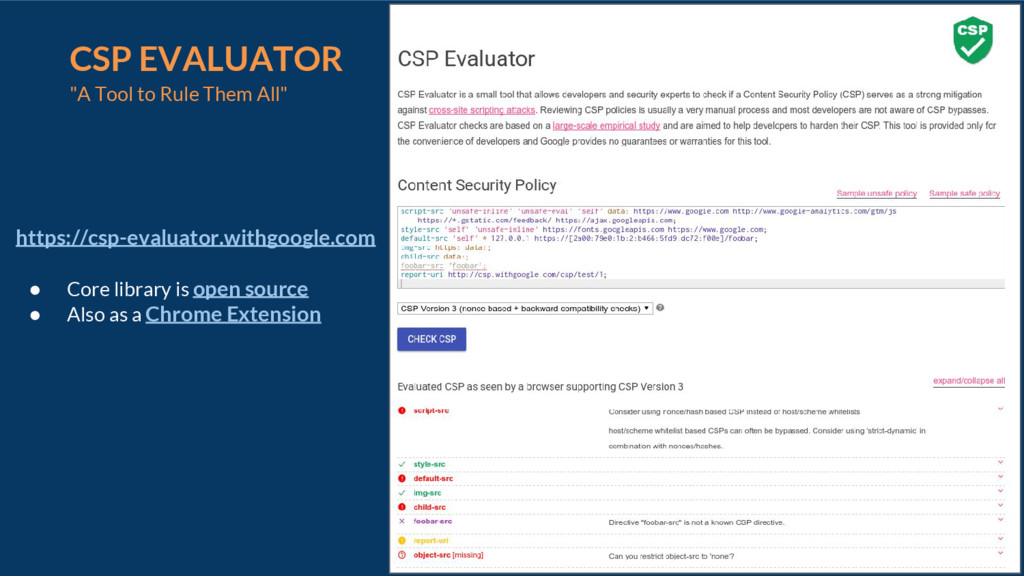 """20 CSP EVALUATOR """"A Tool to Rule Them All"""" http..."""