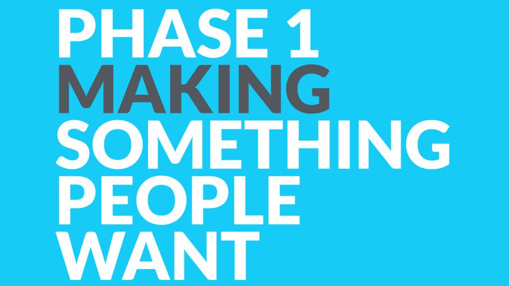 PHASE 1 MAKING SOMETHING PEOPLE WANT