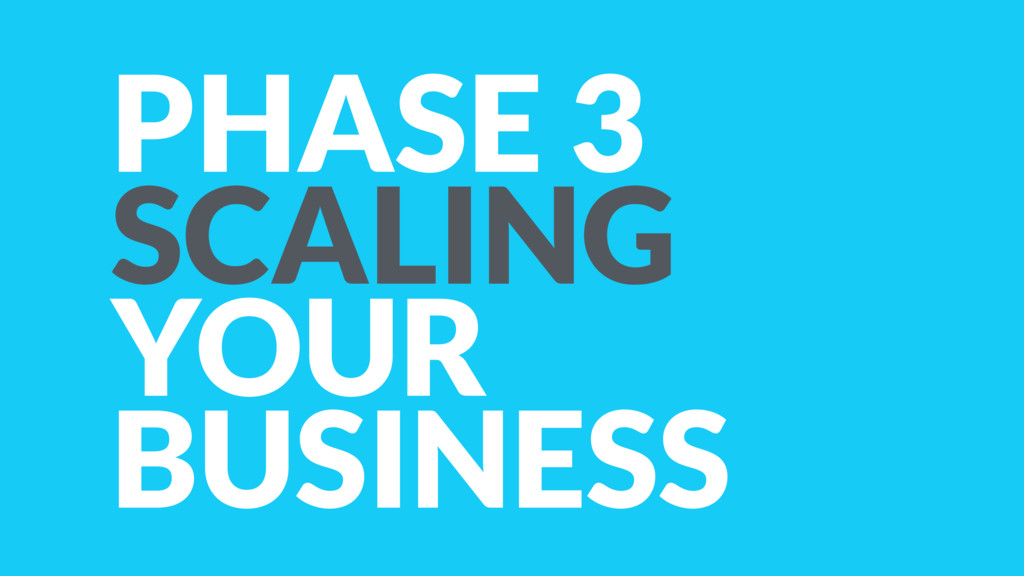 PHASE 3 SCALING YOUR BUSINESS