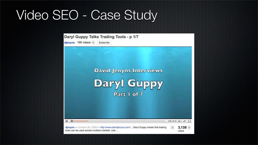 Video SEO - Case Study