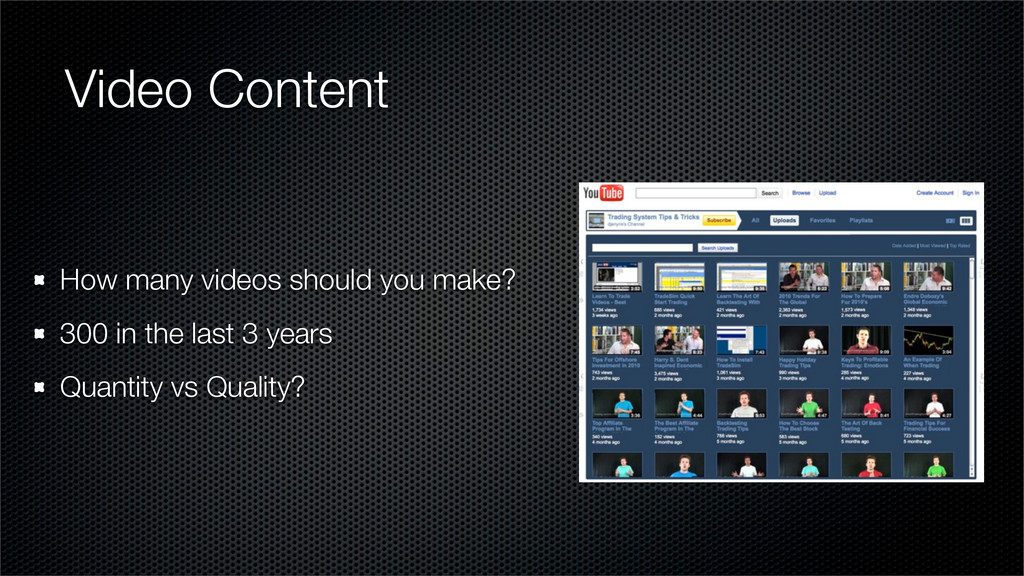 Video Content How many videos should you make? ...