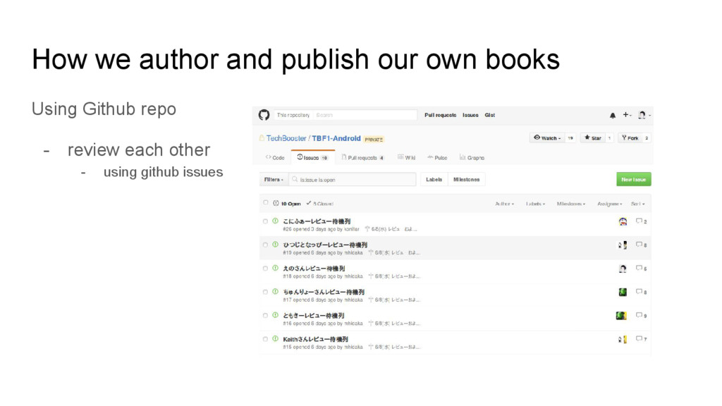How we author and publish our own books Using G...
