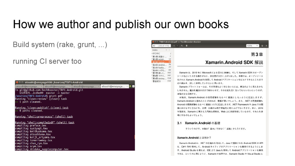 How we author and publish our own books Build s...