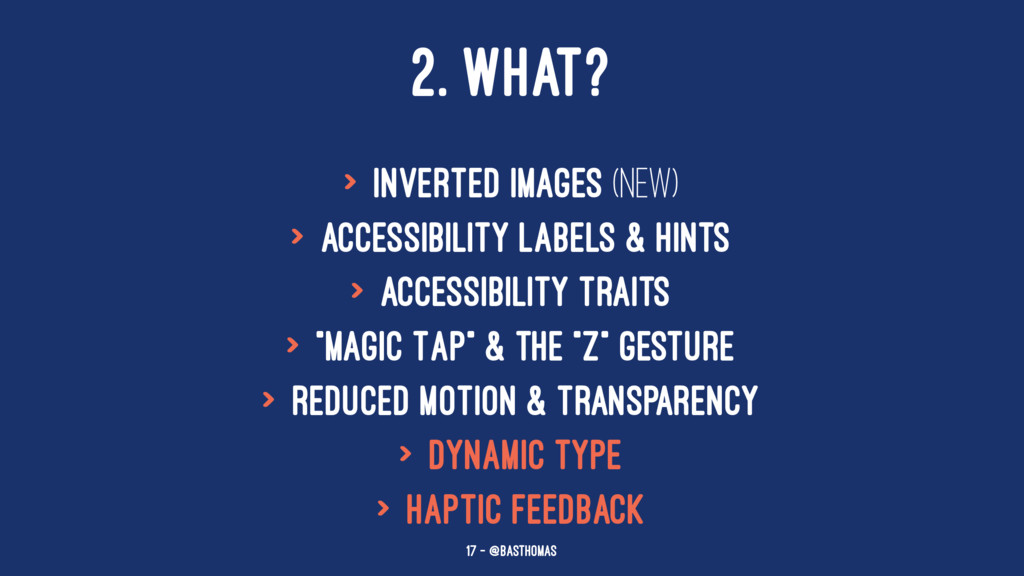 2. WHAT? > Inverted Images (new) > Accessibilit...