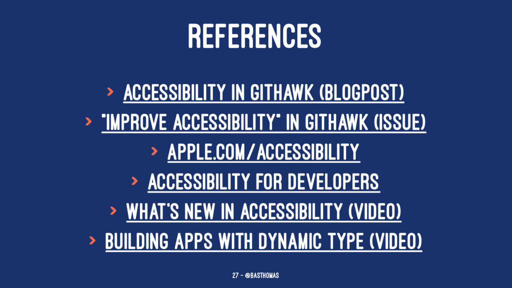 REFERENCES > Accessibility in GitHawk (blogpost...