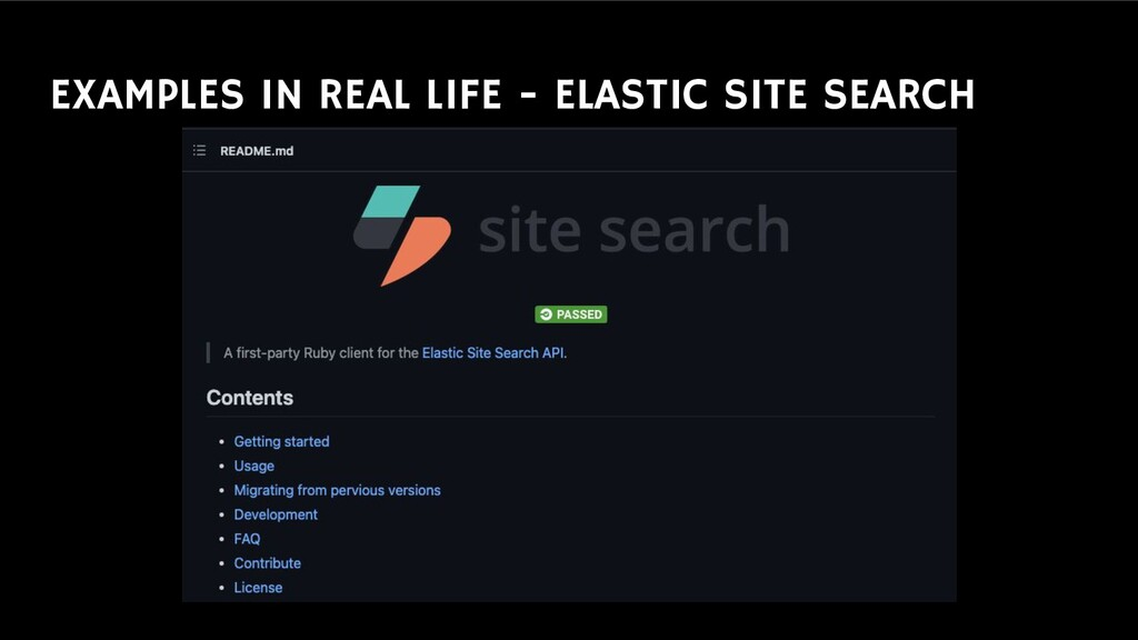 EXAMPLES IN REAL LIFE - ELASTIC SITE SEARCH