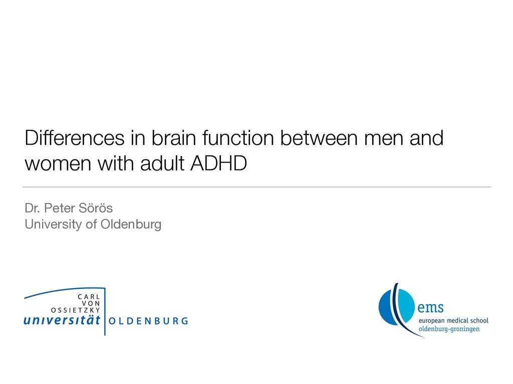 Differences in brain function between men and w...