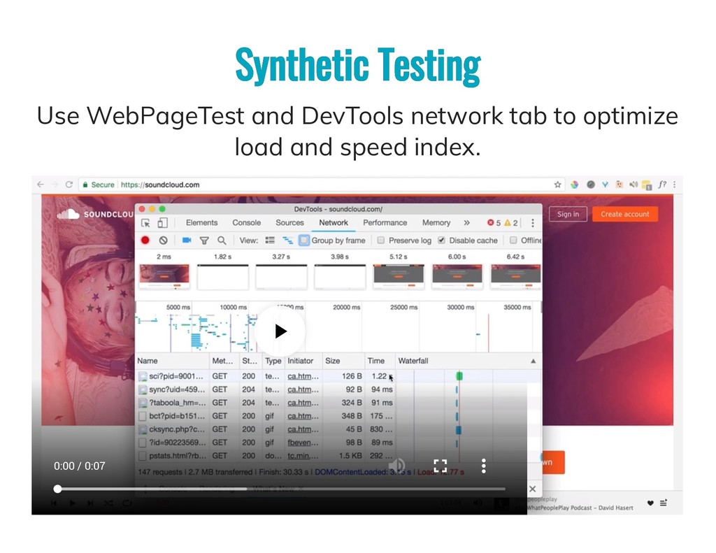 Synthetic Testing Synthetic Testing Use WebPage...