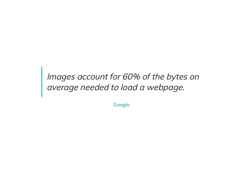 Images account for 60% of the bytes on average ...