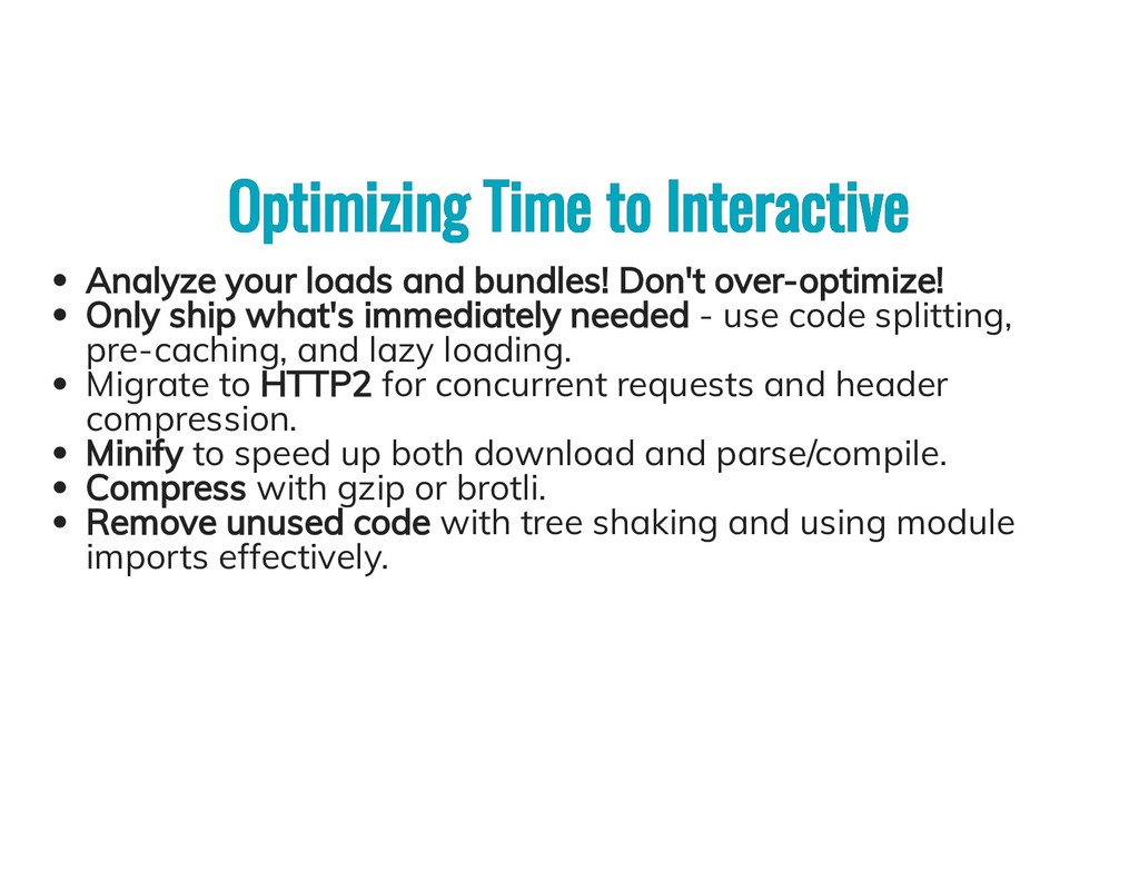 Optimizing Time to Interactive Optimizing Time ...