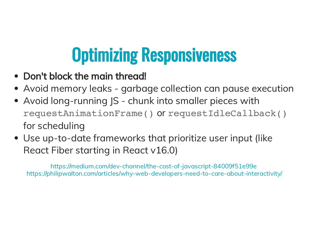 Optimizing Responsiveness Optimizing Responsive...