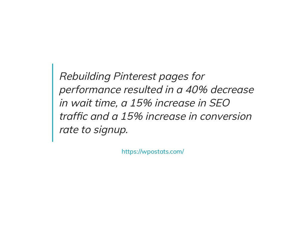 Rebuilding Pinterest pages for performance resu...