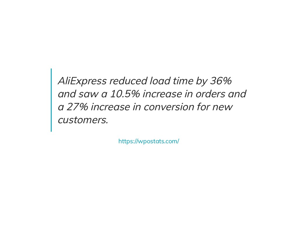 AliExpress reduced load time by 36% and saw a 1...
