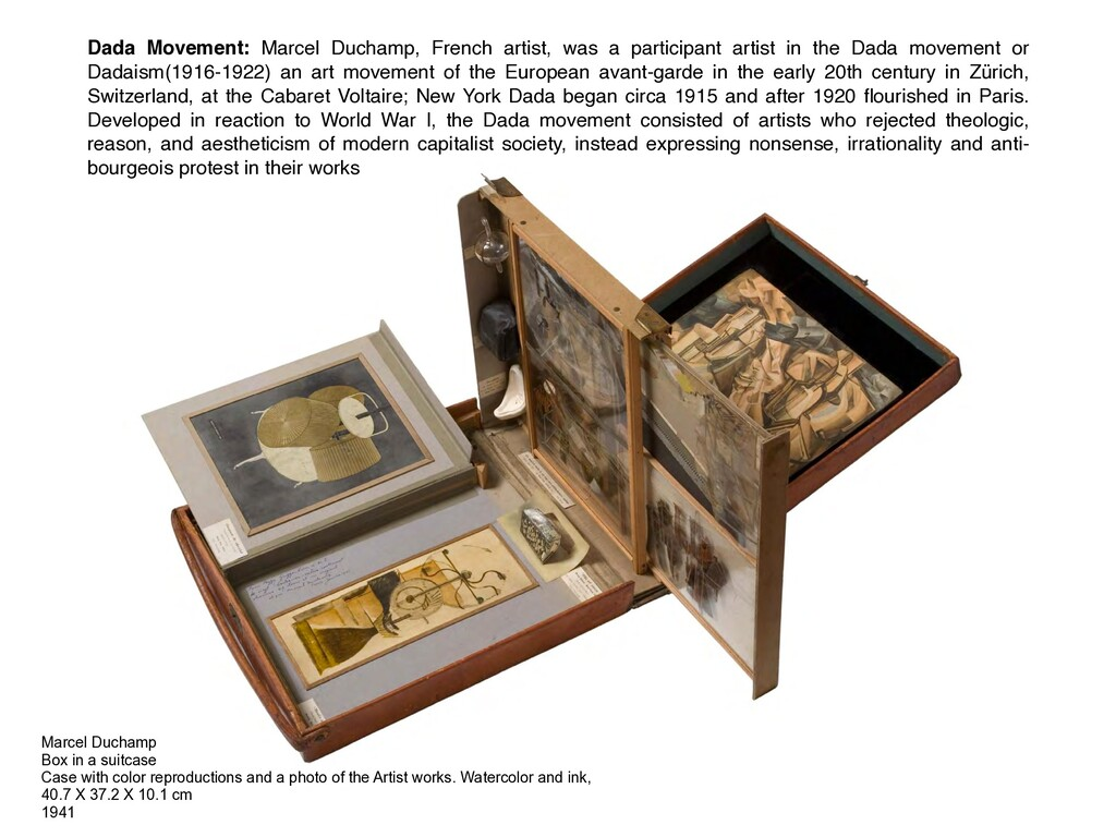 Marcel Duchamp Box in a suitcase Case with colo...
