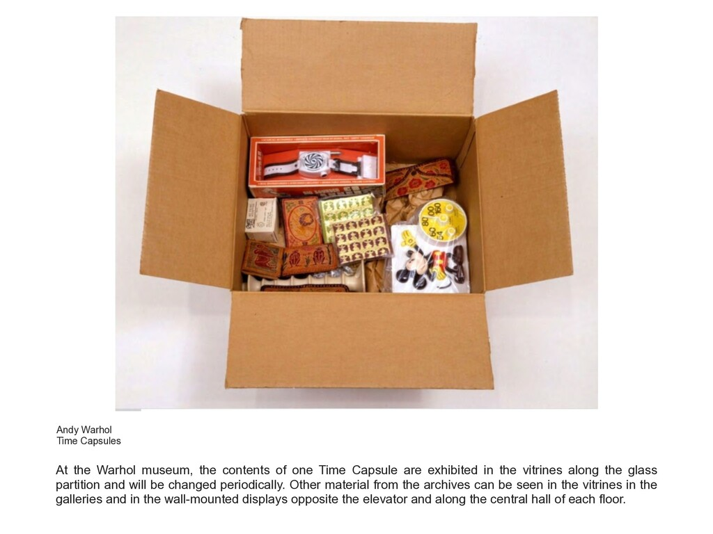 At the Warhol museum, the contents of one Time ...