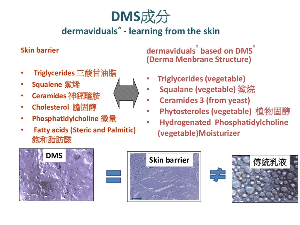DMS成分 dermaviduals® - learning from the skin Sk...