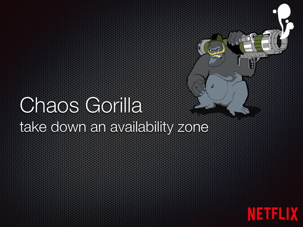 Chaos Gorilla take down an availability zone