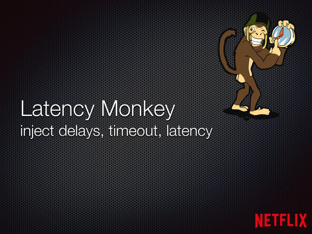 Latency Monkey inject delays, timeout, latency