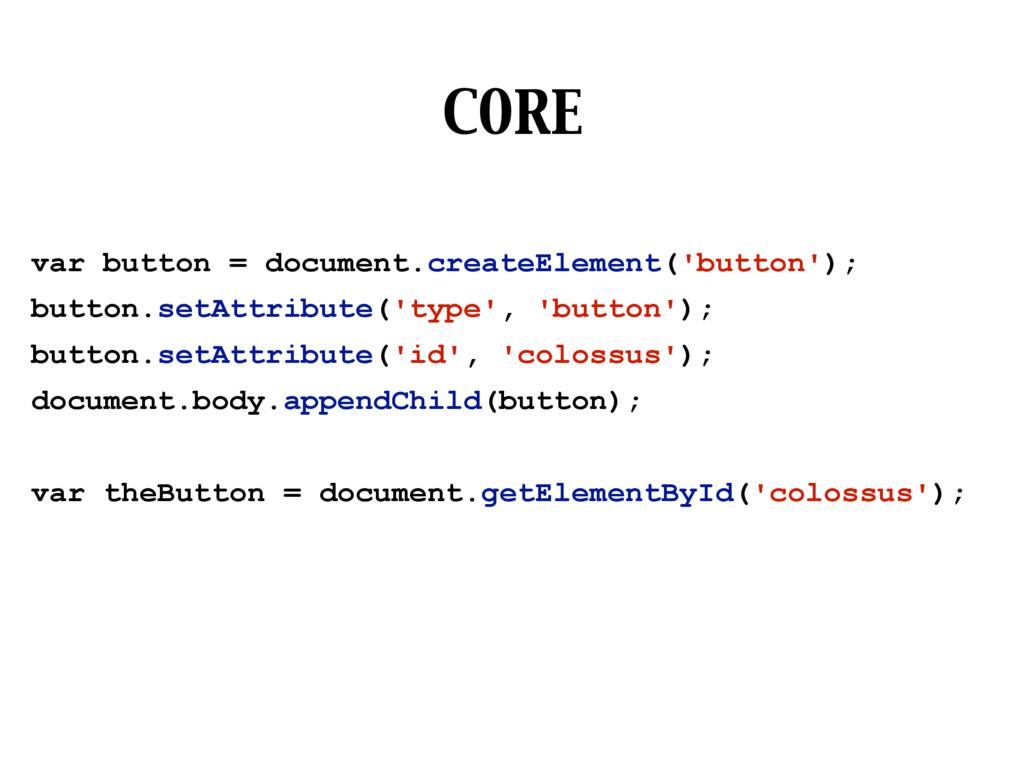 CORE var button = document.createElement('butto...