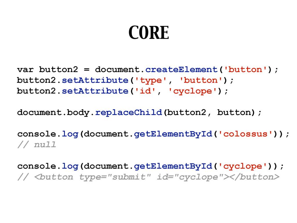 CORE var button2 = document.createElement('butt...