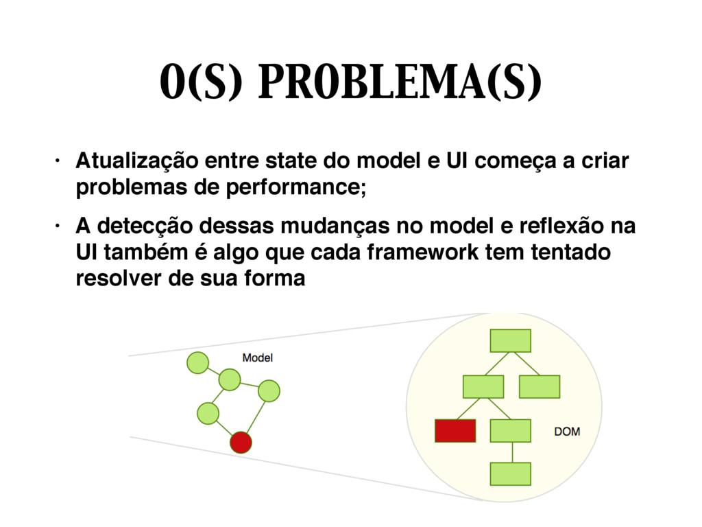 O(S) PROBLEMA(S) • Atualização entre state do m...