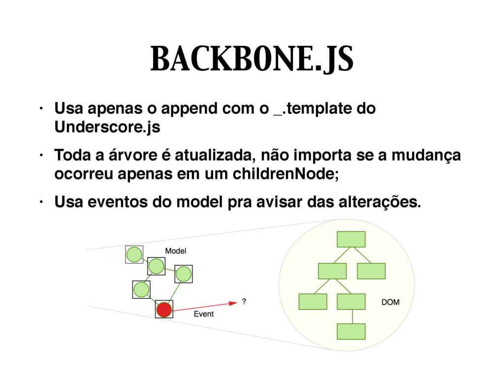BACKBONE.JS • Usa apenas o append com o _.templ...