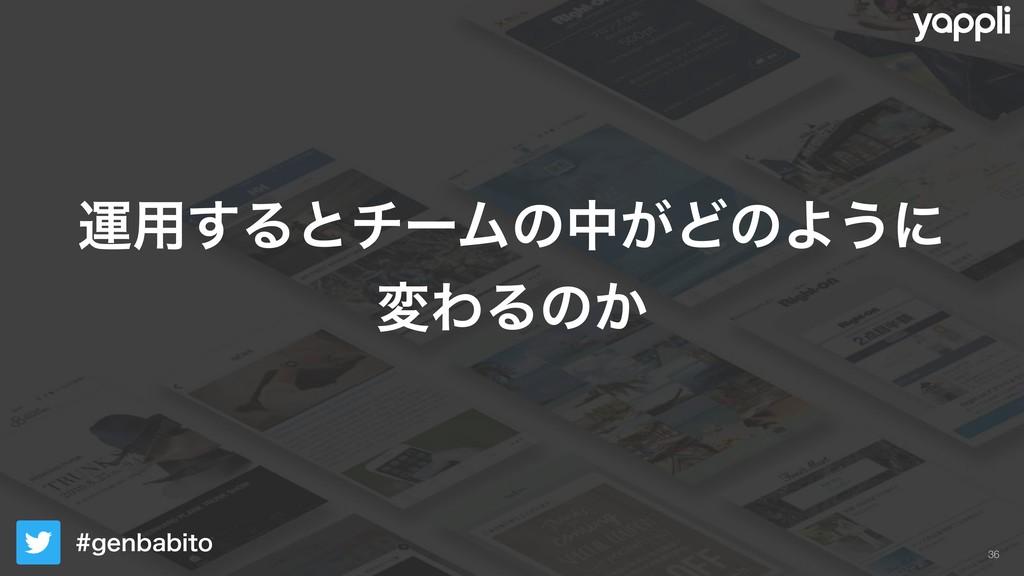 HFOCBCJUP !36 ӡ༻͢ΔͱνʔϜͷத͕ͲͷΑ͏ʹ มΘΔͷ͔