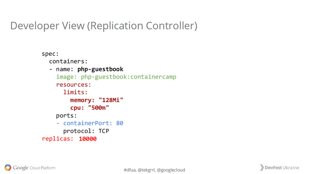 #dfua, @tekgrrl, @googlecloud Developer View (R...