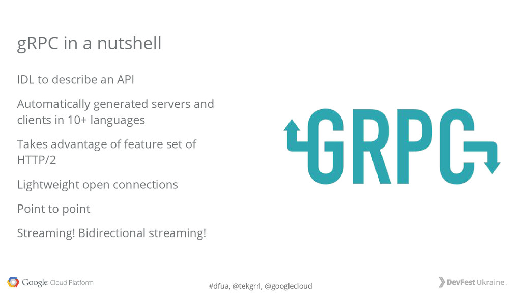 #dfua, @tekgrrl, @googlecloud IDL to describe a...