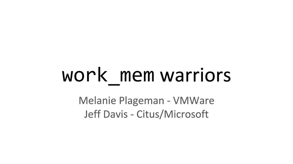 work_mem