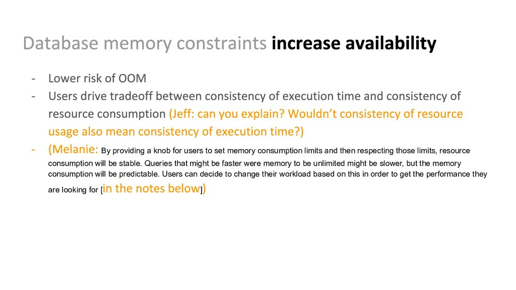 By providing a knob for users to set memory con...